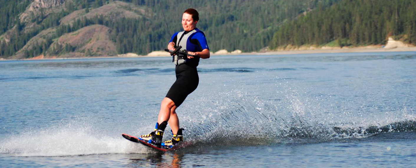 Person Waterskiing | Things to Do | Lake Roosevelt Adventures