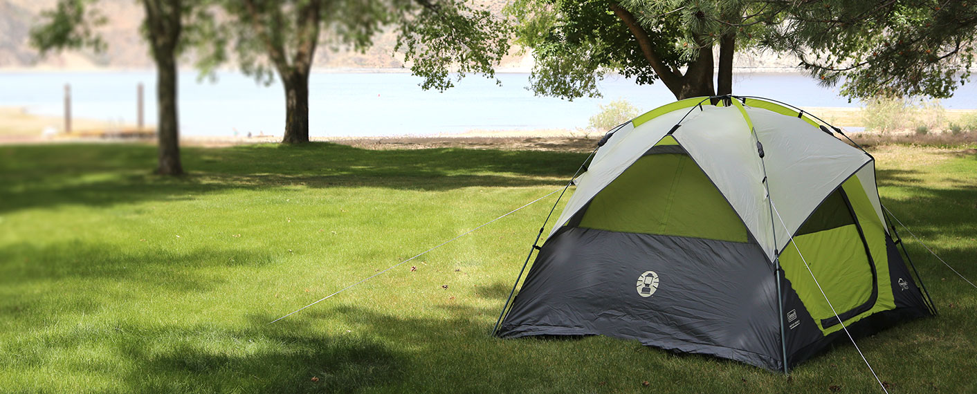 Tent on Campground | Keller Ferry Campground | Lake Roosevelt Adventures