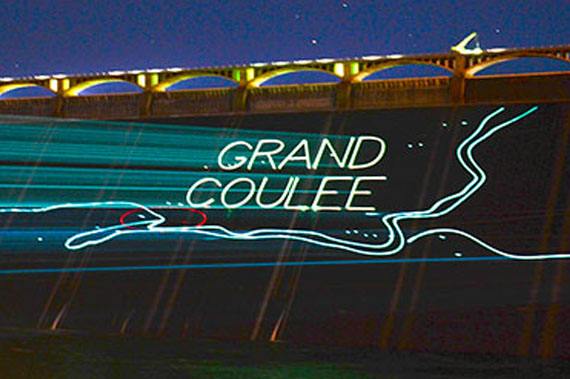 Grand Coulee's laser light show | Activities | Lake Roosevelt Adventures